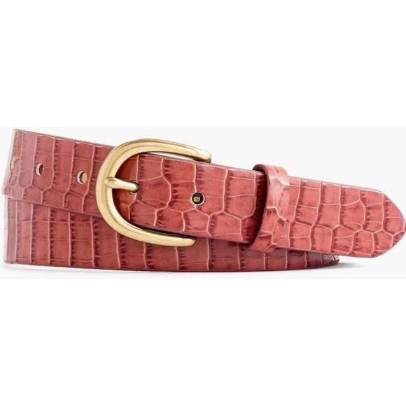 J. Crew Accessories - J crew Embossed croc leather belt